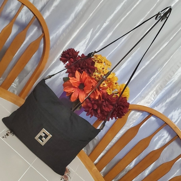 AUTHENTIC Fendi Zucca Messenger Shoulder Bag